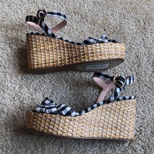482cb8b14c kate spade Shoes - New! Kate Spade Tilly Gingham Wedge sandal-7.5